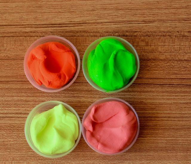 Слайм из слизи с полимерной глиной
